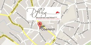 Directions to Hotel Pflug, Oberkirch, Black Forest