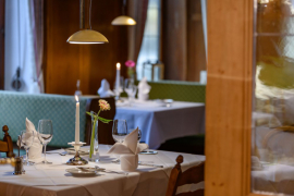 Dining with flair in our restaurant